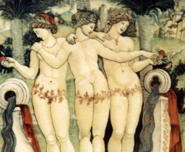 俄諾特洛派(Oenotropae),希臘神話的三女神,分別擁有酒水、糧食及油料的能力。