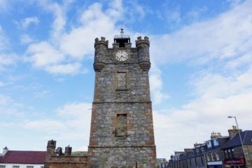 Dufftown的地標Dufftown Tower。