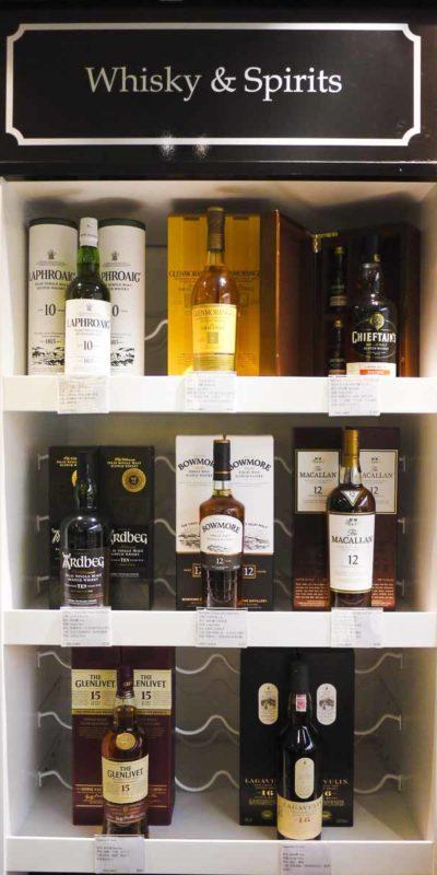 除了葡萄酒外,近年大熱的威士忌當然也不可少。