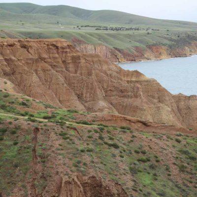 麥克拉倫谷的典型土壤剖面之三。棕色鬆散的山坡沖積土。