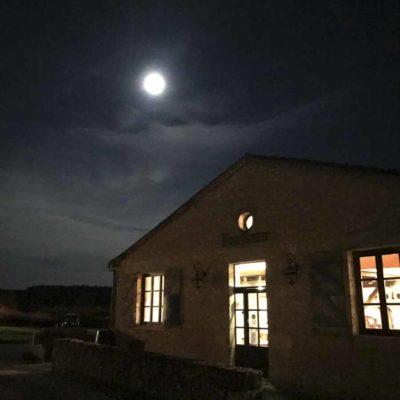 中秋在威之堡酒庄賞月。