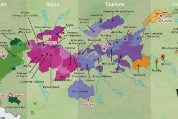 盧瓦爾河谷產區分佈。