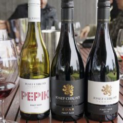 Josef Chromy的不同Pinot Noir 酒款。