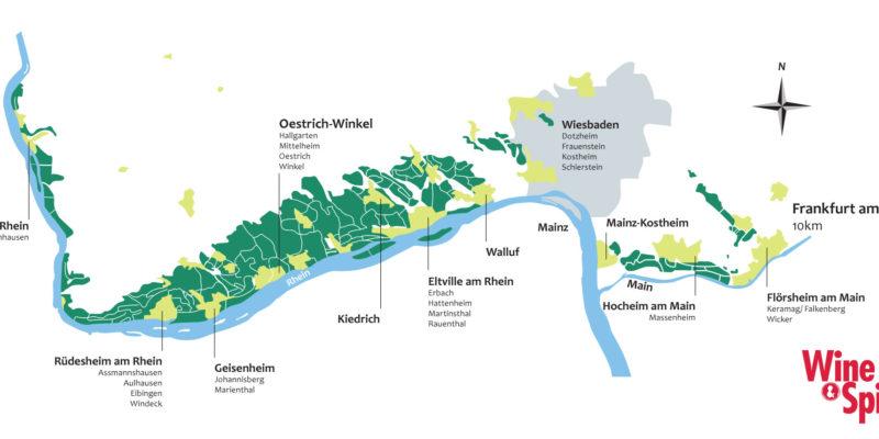 萊茵河行走的Rheingau Linie鐵路,連接了Frankfurt、Wiesbaden和Rheingau酒區的各個鄉鎮,每小時一班,方便遊走酒莊和景點。