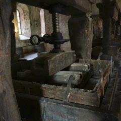Eberbach修道院陳放了十多台古老葡萄壓榨機。