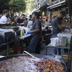 這個店舖在Borough Market是數一數二的美食,大排長龍的食客都是為了品嚐這個慢煮豬肉,可隨意配搭沙律、麵包、薯條等,非常惹味。