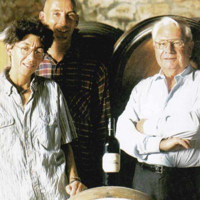 Luca、Maurizia與Giacomo Tachis在一起